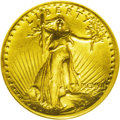 High Relief Double Eagles: , 1907 $20 High Relief, Flat Rim MS61 NGC. This is a wonderful Uncirculated example with exceptional aesthetic appeal. The de...