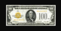 Small Size:Gold Certificates, Fr. 2405 $100 1928 Gold Certificate. Extremely Fine-About Uncirculated.. ...