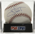 "Autographs:Baseballs, Tony Gwynn ""3141"" Single Signed Baseball, PSA Mint 9. Newlyenshrined Hall of Famer Ball has been encapsulated by PSA/DNA fo..."