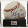 "Autographs:Baseballs, Pedro Martinez ""Cy 97-99-00"" Single Signed Baseball, PSA NM-MT+8.5. Only four men have earned more Cy Young Awards than the..."