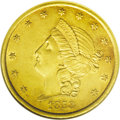 Territorial Gold: , 1853 $20 Moffat & Co. Twenty Dollar AU58 NGC. K-19, R.5+. Thisissue was produced by Curtis and Perry of the United States ...