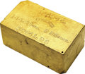 S.S. Central America Gold Bars: , Justh & Hunter Gold Ingot. No. 4244. This large, heavy ingot has almost all the imprints on the top side. The devices are we...
