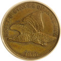 Patterns: , 1856 P1C Flying Eagle Cent, Judd-181, Pollock-211, R.7, PR63 BrownPCGS. Dies of Snow-1 struck in copper. The obverse clear...