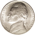 Errors: , 1943-S 5C Jefferson Nickel--Struck on a Steel Cent Planchet--MS64 PCGS. A lustrous silver-gray example with delicate gold t...