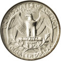 Errors: , Undated 25C Washington Quarter--Double Struck With Two Reverse Dies and Indent--MS66 NGC. This unbelievable modern error is...