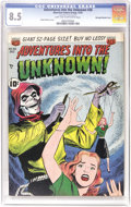 Golden Age (1938-1955):Horror, Adventures Into the Unknown #26 Big Apple pedigree - Double Cover(ACG, 1951) CGC VF+ 8.5 Light tan to off-white pages. Ogde...