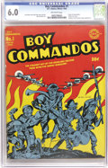 Golden Age (1938-1955):War, Boy Commandos #1 (DC, 1942) CGC FN 6.0 Off-white pages. This bookis everything the Simon and Kirby fan could ask for, start...