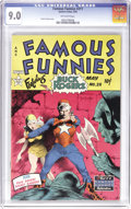 Golden Age (1938-1955):Science Fiction, Famous Funnies #211 (Eastern Color, 1954) CGC VF/NM 9.0 Off-whitepages. Frank Frazetta, Frank Frazetta, and furthermore, Fr...