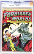 Golden Age (1938-1955):Science Fiction, Forbidden Worlds #1 (ACG, 1951) CGC VF- 7.5 Cream to off-whitepages. Overstreet ranks this book second among all ACG comics...