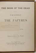 Books:World History, [Egyptology] The Book of the Dead. Facsimile of the Papyrus ofAni in the British Museum. Longmans & Company, 1...