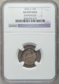 Seated Dimes: , 1866-S 10C -- Damaged -- NGC Details. AU. NGC Census: (1/14). PCGSPopulation (2/13). Mintage: 135,000. Numismedia Wsl. Pri...
