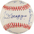 Autographs:Baseballs, 1982 New York Yankees Old Timer's Day Signed Baseball with Mantle,Maris, DiMaggio, PSA/DNA Mint+ 9.5....