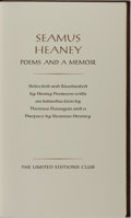 Books:Literature 1900-up, Seamus Heaney. LIMITED SIGNED. Seamus Heaney Poems and aMemoir. Limited Editions Club, 1982. First edition, lim...