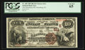 National Bank Notes:Pennsylvania, Gettysburg, PA - $10 1882 Brown Back Fr. 480 The Gettysburg NB Ch.# (E) 611. ...