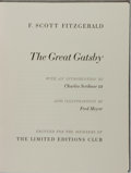 Books:Literature 1900-up, F. Scott Fitzgerald. SIGNED LIMITED. The Great Gatsby.Limited Editions Club, 1980. Limited to 2000 copies signe...