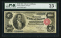 Large Size:Silver Certificates, Fr. 344 $100 1891 Silver Certificate PMG Very Fine 25 Net.. ...