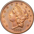 1866 $20 Twenty Dollar, Judd-549, Pollock-612, High R.7 but Unique or R.8 Non-Gilt, PR65 Red and Brown NGC. CAC....(PCGS...