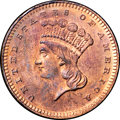 1870 G$1 Gold Dollar, Judd-1023, Pollock-1158, High R.7, PR65 Red and Brown NGC....(PCGS# 71271)