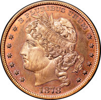 1878 $1 Goloid Dollar, Judd-1559, Pollock-1751, R.7, PR66 Red and Brown NGC. CAC....(PCGS# 71921)