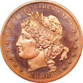 Patterns, 1880 $1 Goloid Metric Dollar, Judd-1652, Pollock-1852, High R.7, PR67 Red NGC. CAC....