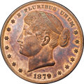 Patterns, 1879 $1 Metric Dollar, Judd-1623, Pollock-1819, R.7, PR65 Red and Brown NGC. CAC....