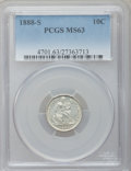 Seated Dimes: , 1888-S 10C MS63 PCGS. PCGS Population (6/16). NGC Census: (12/19).Mintage: 1,720,000. Numismedia Wsl. Price for problem fr...