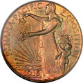 Patterns, 1915 P50C No S Panama-Pacific Half Dollar, Judd-1792/1962, Pollock-2030, R.8, PR66+ ★ Red and B...