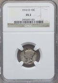 Mercury Dimes: , 1916-D 10C Fair 2 NGC. NGC Census: (438/1312). PCGS Population(319/5309). Mintage: 264,000. Numismedia Wsl. Price for prob...