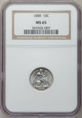 Seated Dimes: , 1888 10C MS65 NGC. NGC Census: (39/29). PCGS Population (43/24).Mintage: 5,495,655. Numismedia Wsl. Price for problem free...