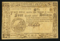 Colonial Notes:South Carolina, South Carolina December 23, 1776 $4 Very Fine-Extremely Fine.. ...