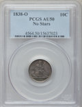 Seated Dimes: , 1838-O 10C No Stars AU50 PCGS. PCGS Population (12/66). NGC Census:(5/69). Mintage: 406,034. Numismedia Wsl. Price for pro...