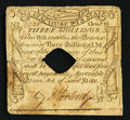 Colonial Notes:Massachusetts, Massachusetts October 16, 1778 3s Very Good Hole Cancelled.. ...