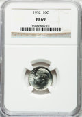 Proof Roosevelt Dimes: , 1952 10C PR69 NGC. NGC Census: (21/0). Mintage: 81,980. NumismediaWsl. Price for problem free NGC/P...