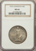 Commemorative Silver: , 1925 50C Lexington MS64 NGC. NGC Census: (1817/1101). PCGSPopulation (1790/1317). Mintage: 162,013. Numismedia Wsl. Price ...
