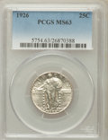 Standing Liberty Quarters: , 1926 25C MS63 PCGS. PCGS Population (247/505). NGC Census:(147/381). Mintage: 11,316,000. Numismedia Wsl. Price for proble...