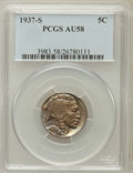 Buffalo Nickels: , 1937-S 5C AU58 PCGS. PCGS Population (30/6653). NGC Census:(21/3137). Mintage: 5,635,000. Numismedia Wsl. Price for proble...