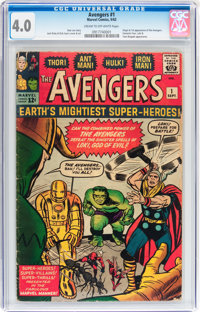 The Avengers #1 (Marvel, 1963) CGC VG 4.0 Cream to off-white pages