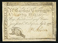 Colonial Notes:North Carolina, North Carolina April 2, 1776 $1 Raccoon Very Fine.. ...