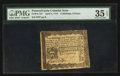 Colonial Notes:Pennsylvania, Pennsylvania April 3, 1772 2s 6d PMG Choice Very Fine 35 EPQ.. ...