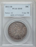 Bust Half Dollars: , 1811/10 50C XF45 PCGS. PCGS Population (19/60). NGC Census:(17/294). Numismedia Wsl. Price for problem free NGC/PCGS coin...