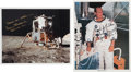 Autographs:Celebrities, Apollo 12 Moonwalkers: Individual Signed Color Photos.... (Total: 2Items)