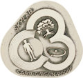 Explorers:Space Exploration, Skylab III (SL-4) Flown Silver Robbins Medallion Directly from thePersonal Collection of Mission Pilot William Pogue, Serial ...