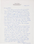 Autographs:Celebrities, Gemini 6A: Wally Schirra's Handwritten and Signed Memories of thisHistoric Mission....