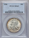 Walking Liberty Half Dollars: , 1936 50C MS65 PCGS. PCGS Population (1883/918). NGC Census:(1126/677). Mintage: 12,617,901. Numismedia Wsl. Price for prob...
