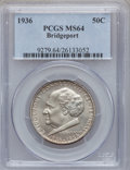 Commemorative Silver: , 1936 50C Bridgeport MS64 PCGS. PCGS Population (1823/2346). NGCCensus: (1071/1584). Mintage: 25,015. Numismedia Wsl. Price...