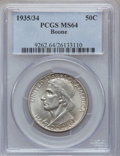 Commemorative Silver: , 1935/34 50C Boone MS64 PCGS. PCGS Population (641/937). NGC Census:(348/834). Mintage: 10,008. Numismedia Wsl. Price for p...
