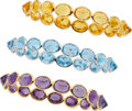 Estate Jewelry:Bracelets, Multi-Stone, Gold Bracelets. ...