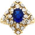 Estate Jewelry:Rings, Sapphire, Diamond, Platinum, Gold Ring, Schlumberger for Tiffany& Co.. ...
