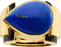 Estate Jewelry:Rings, Lapis Lazuli, Enamel, Gold Ring, David Webb. ...