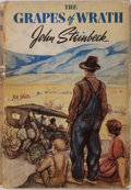 "Books:Literature 1900-up, John Steinbeck. The Grapes of Wrath. The Viking Press, 1939.First edition, first printing in correct dj with ""f..."